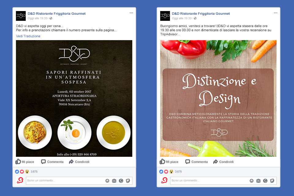 ristorante ded noicattaro Italy SWAG agenzia web, grafica e social a Bari