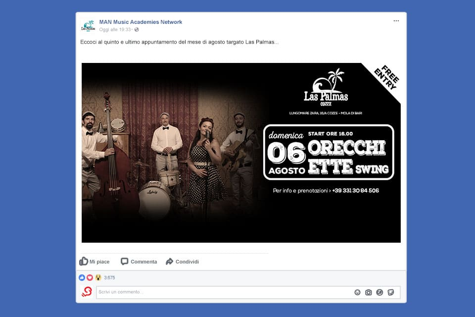 las-palmas-cozze-Italy SWAG agenzia web, grafica e social a Bari