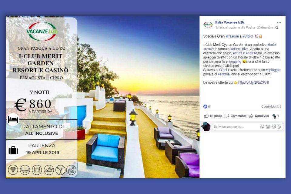 Italia Vacanze B2B Italy SWAG agenzia web, grafica e social a Bari