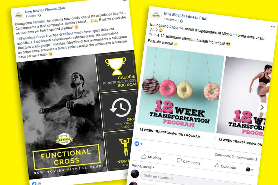 New Movida Fitness Club - Italy Swag  agenzia web, grafica e social a Bari
